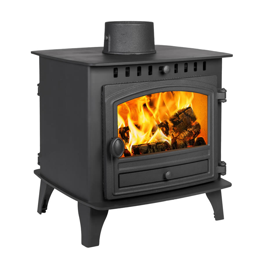 Hunter Herald 6 Double Sided Single Depth - 6.5kw Wood Burning and Multi Fuel Stove from Natural Heating