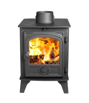 Hunter Hawk 4 DOUBLE SIDED, Single Depth Wood Burning Stove - 6kw nominal