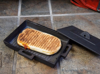 Hellfire Panini / Bacon Press for Wood Burning Stoves and Open Fires