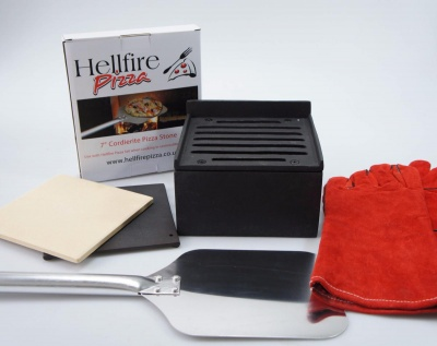 HELLFIRE PIZZA COOKER AND GRILL SET (LARGE - makes 9'' pizzas)