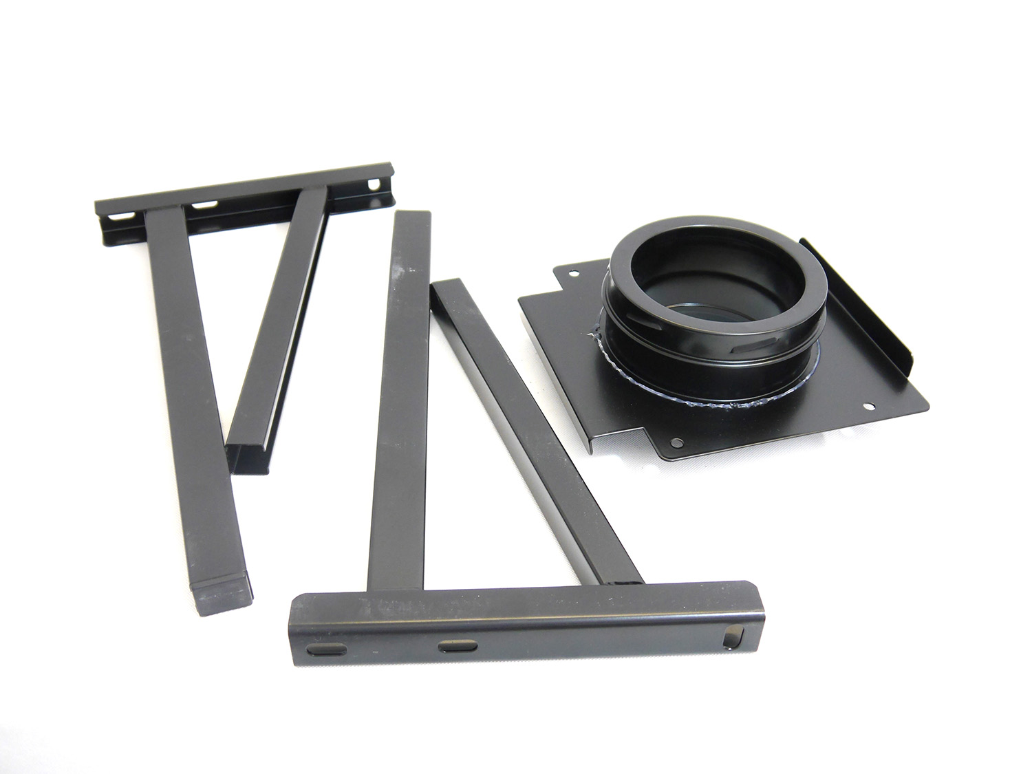Wall Support - Adjustable 100 > 350mm Stand Off BLACK - 6 inch / 150mm dia - Twin Wall Insulated Flue Pipe Eco ICID