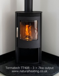 Termatech TT40R Free Standing Wood Burning Stove 3 > 7kw to room (5kw nominal)