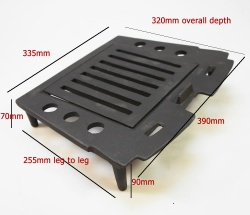 Replacement Full Coal Grate (Inner and Outer) for Abbey / Sandringham Cast Iron Stoves