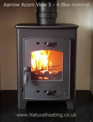 Aarrow Acorn View 5 - 4.9kw nominal Wood Burning and Multi Fuel Stove **SALE PRICE**
