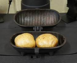 Std Size Cast Iron Baked Potato Cooker (Holds 2 Potatoes)