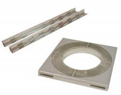Ventilated Joist Support Plate With Arms - 7 inch / 180mm dia - Twin Wall Insulated Flue Pipe Eco ICID
