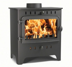 Villager C Flat Wood Solo - 4.9 kw Nominal - Single Door, Wood Burning Stove **SALE PRICE**