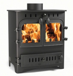 Villager Chelsea Duo - 4.9kw nominal, Double Door Wood Burning and Multi Fuel Stove