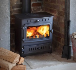 Villager Chelsea Solo - 4.9kw Nominal Single Door Wood Burning and Multi Fuel Stove **SALE PRICE**
