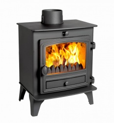Hunter Herald Compact 5 Multi Fuel Stove - 4.7kw nominal  - Single Door - DEFRA Exempt