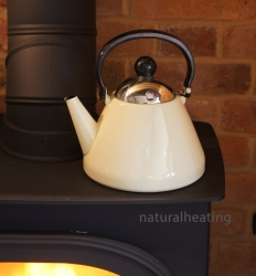 1.9 Litre VANILLA Enamel Stove Top Kettle  (suitable for all hob types incl. induction)