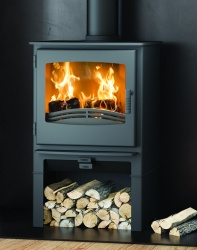 Broseley Desire 7 with Log Store - Multi Fuel and Wood Burning Stove - 7kw nominal, DEFRA Approved