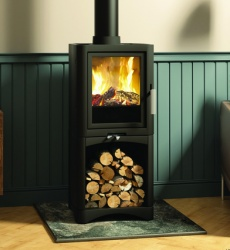 Broseley Evolution 5 Multi Fuel and Wood Burning Stove with Log Store - 5kw nominal