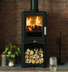 Broseley Evolution 5 DELUXE Multi Fuel and Wood Burning Stove with Log Store - 5kw nominal
