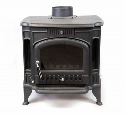 Fogo Cast Iron Multi Fuel and Wood Burning Stove, 12kw max (7 > 10kw to room)