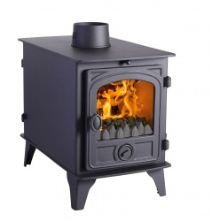 Hunter Hawk 4D DOUBLE SIDED, Double Depth Multi Fuel Stove - 10.6kw nominal