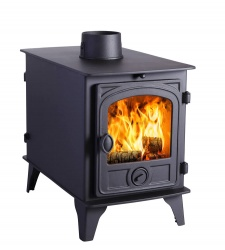 Hunter Hawk 4D DOUBLE SIDED, Double Depth Wood Burning Stove -  10.6kw nominal