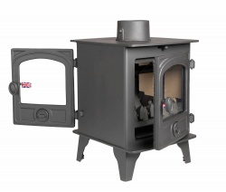 Hunter Hawk 4 DOUBLE SIDED, Single Depth Multi Fuel Stove - 6kw nominal