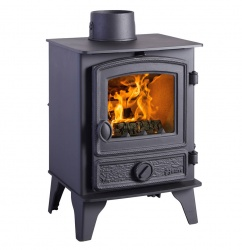 Hunter Hawk 4 Multi Fuel Stove 4.7kw nominal - Traditional Door - DEFRA Exempt