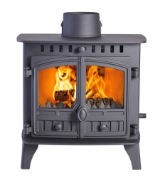 Hunter Herald 6 DOUBLE SIDED, Double Depth, Double Door Multi Fuel Stove - 10.5kw nominal