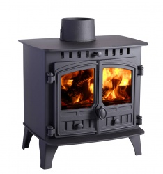Hunter Herald 6 Double Door, Wood Burning Stove - 6.5kw nominal