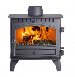 Hunter Herald 8, Multi Fuel and Wood Burning Stove with Single Door - 9.1kw nominal