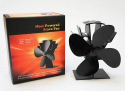 Natural Heating Stove Fan - 4 blade, 50 deg C Start Temp - 360cfm