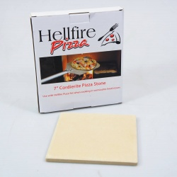 Cordierite Pizza Stone - 7 inch Square (fits std Hellfire Pizza Cooker and Grill Set)