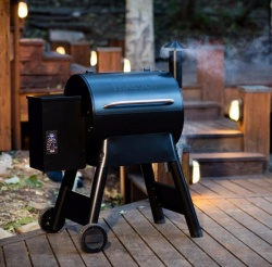 Traeger PRO SERIES 22 BLUE Wood Fired Pellet Grill Smoker Bbq - Digital Controller