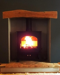 Cleanburn Skagen 5 Multi Fuel and Wood Burning Stove - 4.9kw nominal, 4 > 8kw output range