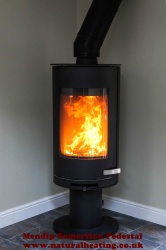 Mendip Somerton II Pedestal - Cylindrical Wood Burning Stove - 7kw (NEW - SHOP EX DISPLAY)