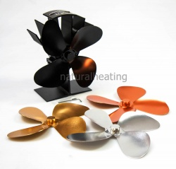 Stove Fan GIFT SET - Fan plus Interchangeable Blade set for Multi Fuel and Wood Burning Stoves (FREE SHIPPING)