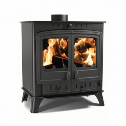 Villager Duo 12 - 11.7kw nominal, Double Door Multi Fuel and Wood Burning Stove **SALE PRICE**