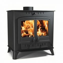 Villager Duo 14  - 14.4kw nominal, Double Door Multi Fuel and Wood Burning Stove