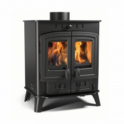Villager Duo 5 - 4.9kw nominal, Double Door Multi Fuel and Wood Burning Stove