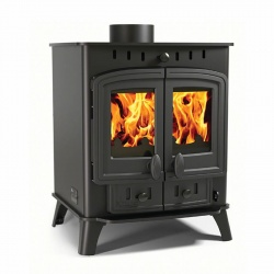 Villager Duo 8 - 8kw nominal, Double Door Multi Fuel and Wood Burning Stove **SALE PRICE**