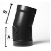 15 deg elbow bend (with door) - 6inch / 150mm dia - Vitreous Enamel Flue Pipe