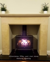 Victorianna Cast Iron Multi Fuel and Wood Burning Stove - 10k max (5 > 7.5kw to room)