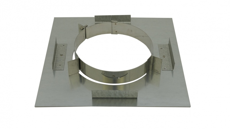 125mm Internal Diameter ICID Plus Support Plate And Clamp - Non Combustible Floor