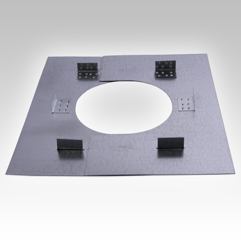 150mm Internal Diameter ICID Plus Fire Stop Plate - Two Piece - Non Combustible Floor