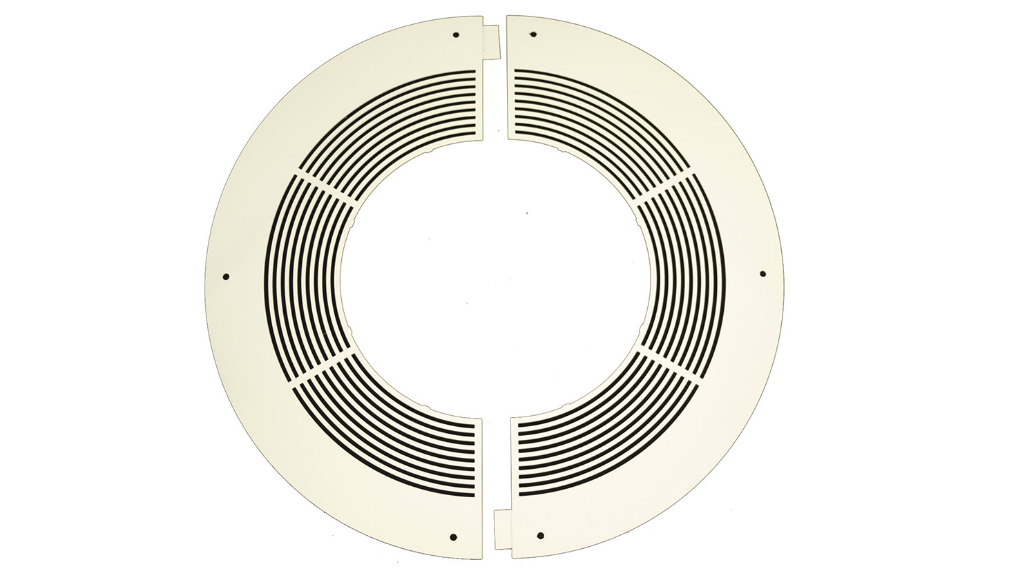 125mm Internal Diameter ICID Plus Ventilated Round Fire Stop - Two Piece - White