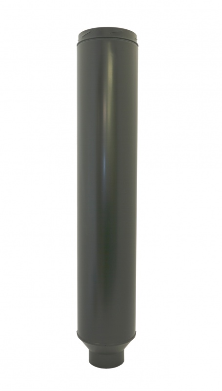 150mm Internal Diameter ICID Plus 125mm-150mm Starter Pipe 1018mm Long Matt Black