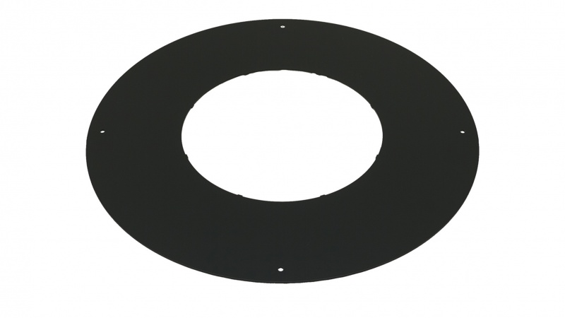 Fire Stop Spacer (NON Ventilated for Bungalows) Black / Round - 5 inch / 125mm dia - Twin Wall Insulated Flue Pipe Eco ICID[1]