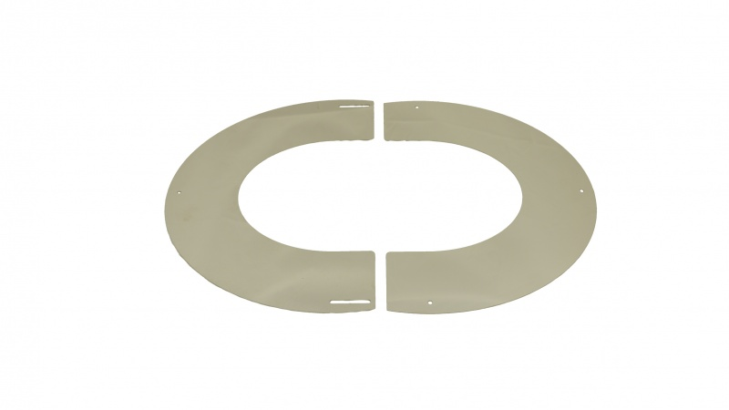 Trim Collar Ring 35 - 45 deg (2pc) - 5 inch / 125mm dia - Twin Wall Insulated Flue Pipe Eco ICID