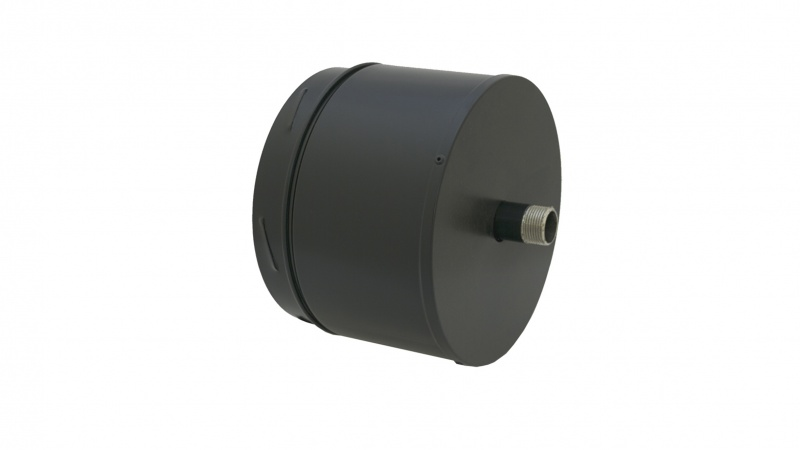 150mm Internal Diameter ICID Plus Insulated Tee Cap And Drain - Matt Black