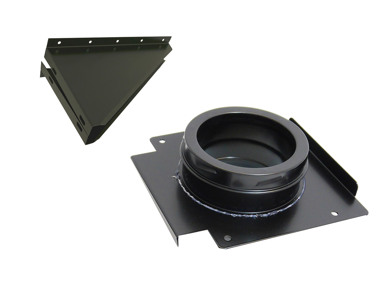 150mm Internal Diameter ICID Plus Wall Support - Matt Black