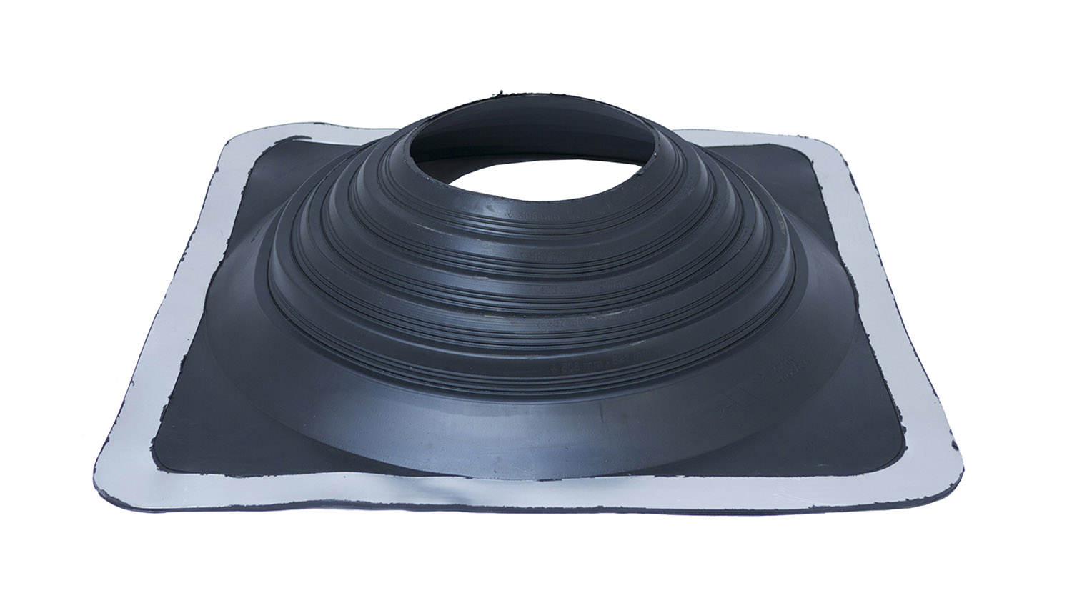 Masterflash Rubber Flashing - Black - No. 8 - 178mm To 330mm Diameter