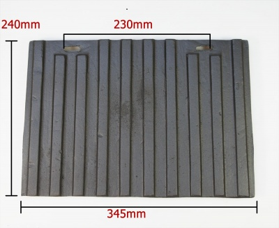 Replacement Rear Lining Panel for Abbey / Buckingham  Cast Iron Stoves ST-0147 / ST2800B