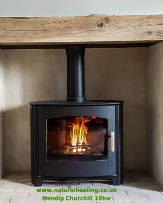Mendip Churchill 10 CONVECTION Wood Burning and Multi Fuel Stove - 10kw nominal