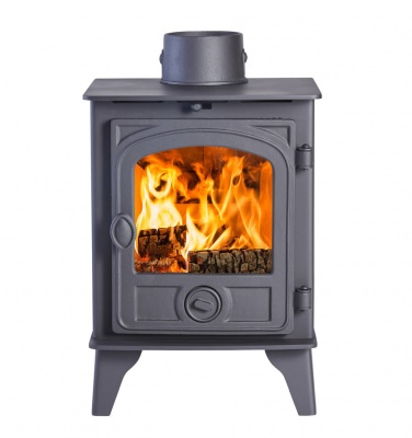 Hunter Hawk 4D Wood Burning Stove - 4.7kw nominal - Modern Door